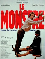 Aff Ciné LE MONSTRE Il Mostro 120X160 1994 Roberto Benigni Michel Blanc - Affiches & Posters