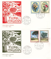 2 Fdc Flavia:FLORA 1966; No Viaggiate; AF_Milano - 6. 1946-.. Republic