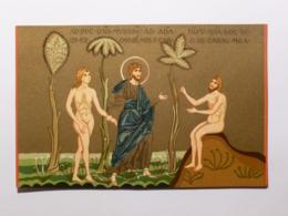 RELIGION - ADAM & EVE - BASILIQUE S. MARIA NUOVA IN MONREALE - MOSAIQUE - Scène Religieuse - Christianisme