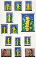 2000 Europa-CEPT A Tower Of Six Stars Complete Year Set With Blocks - 2000
