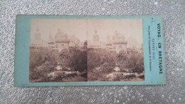 PHOTO STEREO 19 EME SIECLE - VANNES 56 MORBIHAN - VOYAGE EN BRETAGNE - Stereoscopio