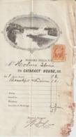 Etats  Unis:Facture Hotel  Niagara  Falls  1865    Avec Timbre  Quittance  Bankcheck - United States