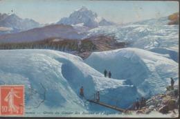 """CHAMONIX """"74""""  __GROTTE DU GLACIER DES BOSSONS ET L'AIGUILLE DU MIDI - Chamonix-Mont-Blanc"""