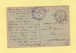 10e Regiment Du Genie - 7e Compagnie - Tresor Et Poste - Carte Ecrite A Sarrbrucken - 1920 - Marcofilie (Brieven)