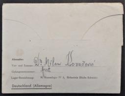 CL MEDECIN SERBE Artz Prisonnier De Guerre STALAG IV A Hohnstein Vers Smederevo Serbie Février 1944 - WW II