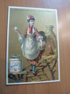 Chromo Liebig. Femme Avec Oeufs . Format; 7 X 10,5 Cm. En Bon état - Liebig