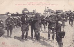 La  Bataille De CHAVANGES ,,,,,les Generaux,  DALSTEIN  FABRE , MICHAL Et Pamard Apres La BATAILLE,,1905,,, VOYAGE 1906, - Guerre 1914-18