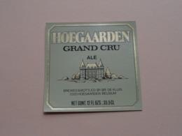 HOEGAARDEN > GRAND CRU Ale 35,5 Cl - Br. De KLUIS ( Zie / Voir / See / Zie Foto ) ! - Bière