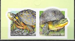 CANADA, 2019, MNH, TURTLES, ENDANGERED TURTLES, 2v SA Ex. BOOKLET - Turtles