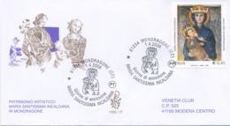 ITALIA - FDC  VENETIA  2006 - SANTUARIO DI MONDRAGONE - ARTE - VIAGGIATA - ANNULLO SPECIALE - 6. 1946-.. Republic