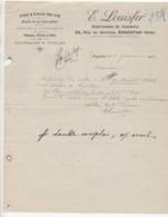 ORNE: LOUISFER, Rue Du Griffon à Argentan, Vins, Eaux De Vie / Fact 1919 - France