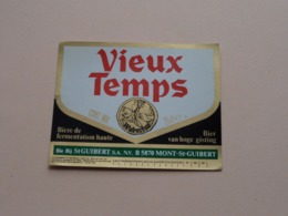 VIEUX TEMPS 25 Cl Hoge Gisting / Bière Ambrée De Fermentation Haute / St. Guibert ( Zie / Voir / See / Zie Foto ) ! - Bière