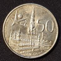 "Belgium 50 Francs 1958 (FR) ""Brussels World Fair"" - 1951-1993: Baudouin I"
