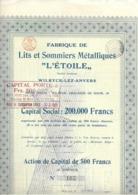 """Fabrique De Lits Et Sommiers Métalliques """"L'Etoile"""" - Wilrijk - Actions & Titres"""