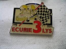Pin's Rallyes, Courses Automobiles: L'Ecurie Des 3 LYS De Saint Louis (68) - Rally