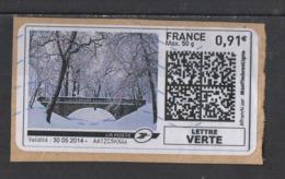 2014  Paysage De Neige  Affranchissement Neopost - 2010-... Illustrated Franking Labels