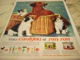 ANCIENNE PUBLICITE BONHEUR DU CHIEN ET DU CHAT CANIGOU 1964 - Other