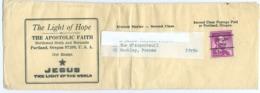 Etats Unis Préoblitéré Portland Oregon 4c Lincoln Sur Bande Journal Pour La France - United States