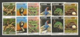 2x ZAIRE - MNH - Animals - Reptiles - Snakes - Lizards - Snakes