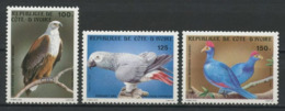 Côte D'Ivoire 1983 N° 660/662 ** Neufs MNH Superbes  C 8 Faune € Oiseaux Aigle Pêcheur Birds Fauna - Costa D'Avorio (1960-...)