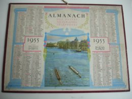 Course Aviron   Departement  Seine Et Marne Almanach Calendrier Ptt P T T Postes 1955 - Klein Formaat: 1941-60