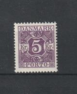 1925 5 KRONER MNH** - Segnatasse