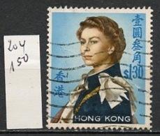 Hong Kong - Honkong - Chine 1962-67 Y&T N°204 - Michel N°206 (o) - 1d Reine Elisabeth II - Used Stamps