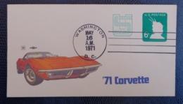 1971 - COVER - POSTAGE REVALUED - 71' CORVETTE - - Washington DC