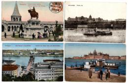 Budapest, 4 Alte Ansichtskarten - Ungheria