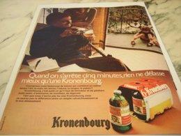 ANCIENNE  PUBLICITE BIERE KRONENBOURG 1971 - Alcolici