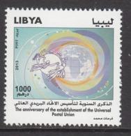 2013 Libya Libia UPU Complete Set Of 1 MNH - Libia