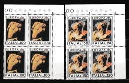 1975 Italia Italy Repubblica EUROPA CEPT EUROPE 4 Serie Di 2v. In Quartina  MNH** PITTURA PAINTING - Europa-CEPT
