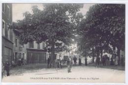 CPA  ORADOUR-SUR-VAYRES - Place De L'Eglise  (Cachet Service Postale.16éme Chasseurs à Pied. Dépot Commun) - Oradour Sur Vayres