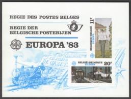 "Belgium  LX72  XX (MNH)  ""Europa 1983, Trains""  Cote 110,00 Euro - Hojas De Lujo"