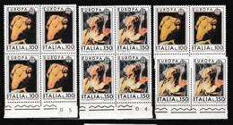 1975 Italia Italy Repubblica EUROPA CEPT EUROPE 6 Serie Di 2v. In Quartina + 2 MNH** PITTURA PAINTING - Europa-CEPT