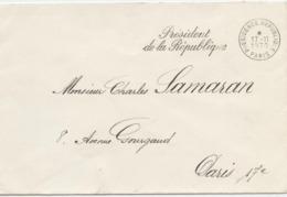 Cachet, Présidence République,Pompidou, 1970, Charles Samaran, Cravencères,Nogaro, Académie Belles Lettres - Postmark Collection (Covers)