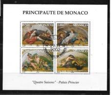 Monaco:Bloc Feuilletn°87 O Avec Gomme D'origine Cote 16,50€ - Blokken