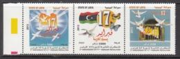 2013 Libya Libia Revolution Complete Strip Of 3 MNH - Libia