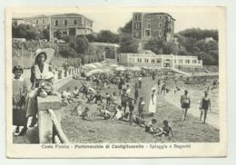 COSTA FIORITA - PORTOVECCHIO DI CASTIGLIONCELLO - SPIAGGIA E BAGNETTI 1939  - VIAGGIATA FG - Livorno