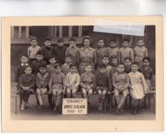 PHOTO - 93 - DRANCY - PHOTO De Classe D' ECOLE De GARCONS ANNEE SCOLAIRE 1956-1957 - BEAU DOCUMENT - Drancy