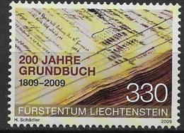 2009 Liechtenstein  Mi. 1512**MNH  200 Jahre Grundbuch : Grundbucheinträge - Ongebruikt