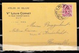 Postkaart Van Huy 1 Centre Touristique Naar Bruxelles - 1935-1949 Petit Sceau De L'Etat