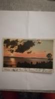 CPA CIRCULEE EN 1906 - SUNSET ON LAKE CHAMPLAIN - COUCHER DE SOLEIL - Burlington