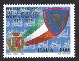 Italia, Italy, Italien, Italie 1997; Leone Su Stemma, Lion On Coat Of Arms, Polizia Stradale. - Felini