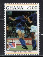 GHANA - 1993 - Franco Baresi, Italy - 1994 World Cup Soccer, US - MNH - Ghana (1957-...)