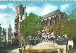 927. Gent - Standbeeld Gebroeders Van Eyck - St. Baafskerk - Gent