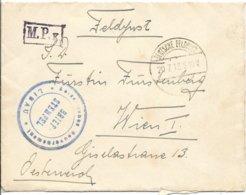 Veldpostenvelop Van Libau Naar Wenen - Guerre 14-18