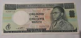 Banque Nationale Du Congo - 5 Zaires Ou 500 Makuta 1967 - Congo