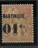 Martinique - 1888-1891 - N°Yv. 7 - 01 Sur 2c Brun - Neuf Luxe ** / MNH / Postfrisch - Martinique (1886-1947)