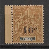 Martinique - 1904 - N°Yv. 52 - 10c Sur 30c Brun - Petit Bord De Feuille - Neuf Luxe ** / MNH / Postfrisch - Ungebraucht